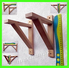 Holz Regal Träger Regalwinkel Regalhalter Wandregal Holzregal Küchenregal natur-