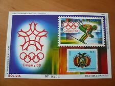 Bolivien Olympia 1988 Calgary Mi Bl. 165 postfrisch