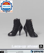 "1/6 Women Ankle Boots Black For 12"" Hot Toys Phicen Kumik Female Figure ❶USA❶"