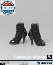"1/6 Women Ankle Boots Black For 12"" Hot Toys Phicen Kumik Female Figure ❶USA❶"