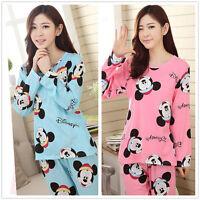 Cartoon Mouse Pajama Sets Women's Nightdresses Sleepshirt Sleepwear Nightshirt