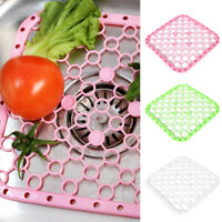 Silicone Placemat Kitchen Sink Drying Rack cups Draining Pan Mat Insulat UK