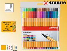 Stabilo Point 88 Fineliner - Der Klassiker - in 40 Farben, - NEU -