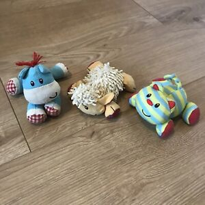 ELC Blossom Farm Toy animals Baby sensory Rattle Squeaky Sheep Cat Horse Cute