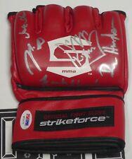 Dan Henderson Nick Diaz Frank Shamrock +2 Signed StrikeForce Glove PSA/DNA UFC