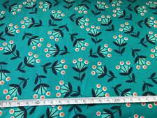 Wild Nectar by Moda - Aqua -100% Cotton Fabric  - 50cm  x 110cm