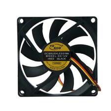 80mmx15mm 12V Fan Cooler Fan Case PC Computer Cooling 3 Pin High Quality UK