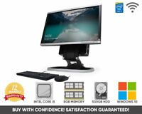 """HP 8200 All in One 22"""" PC Computer Intel Core i5 Quad 8GB 500GB Windows 10 WiFi"""