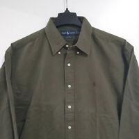 NEW VTG POLO Ralph Lauren Men's XL Cotton L/S Button Down Shirt Blake Green