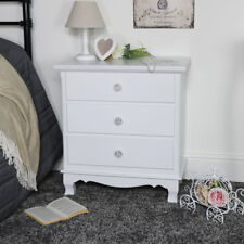 White Wood 3 Drawer Chest Shabby Vintage Chic French Bedroom Furniture Storage8