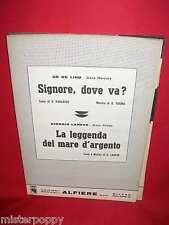 DE DE LIND Signore dove vai + GIORGIO LANEVE La leggenda .... 1971 Spartiti PROG
