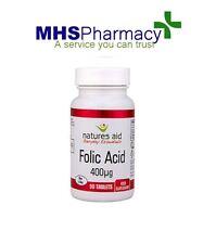 Folic Acid  400mcg Tablets x 90