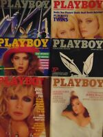 6 Must Have 80's Playboy Magazines  #3065