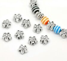 50x Metallperlen Spacer beads antiksilber Blume 7mm NEU Schmuck Basteln Spacer