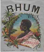 """RHUM VIEUX JAMAÏQUE"" Etiquette-chromo originale fin 1800"