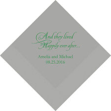 500 And They Lived Happily Ever After Personalized Wedding Luncheon Napkins