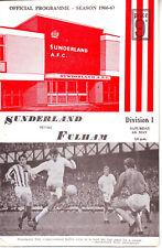 SUNDERLAND V FULHAM 6 MAY1967 + FLR VGC. DISCOUNT POSTAGE!