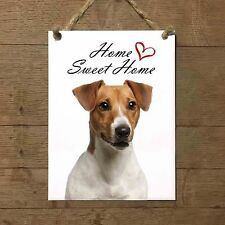 JACK RUSSELL Home Sweet home mod2 Targa cane piastrella ceramic tile dog