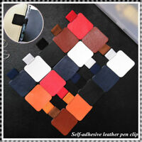 2Pcs Leather Self-adhesive Pen Holder With Elastic Loop for Notebooks-Diary