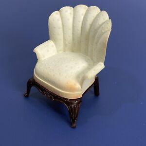 Vtg Renwal Toy Dollhouse Furniture Plastic White Living Room 4 Leg Chair L-77