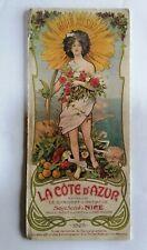 RARE DÉPLIANT TOURISTIQUE LA COTE D AZUR L HIVER AU SOLEIL  1903 PIERRE COMBA