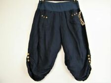 Linen Machine Washable Regular Size Capris, Cropped Pants for Women