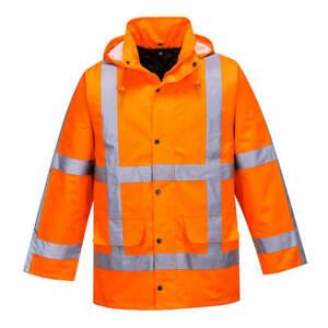 Portwest R460 High Visibility RWS Traffic Jacket Outdoor Workwear - Orange