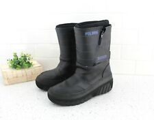 Vintage 90's POLARIS Snowmobile Boots - Womens 5/6 Leather Snow Moon Boots z168