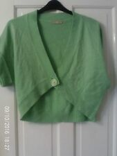 GREEN SHORT CARDIGAN, SIZE 12