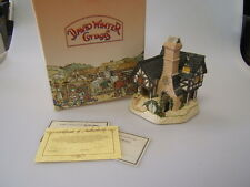 """David Winter Cottages """"Inglenook Cottage"""" 1991 Handcrafted Collectible Coa Mib"""