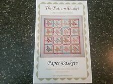 "Paper Baskets Quilt Pattern by Margot Languedoc for The Pattern Basket 58.5"" sq"