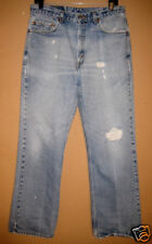 Used- destroyed levi 517 bootcut flare jeans 34x33