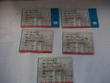 ALL 5 Days Tickets For West Indies V England Played In Barbados In April 2004