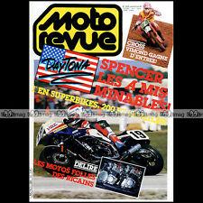 MOTO REVUE N°2694 FREDDIE SPENCER & DAYTONA, YAMAHA TY 350 BURGAT, VIMOND 1985