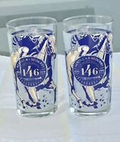 """2020 Kentucky Derby Glasses TWO New + Mint!!   """"AUTHENTIC"""" WINS THE 146TH!!"""
