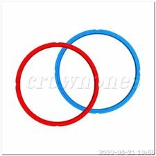 2PCS 24x22cm Sealing Ring of Silica Gel Pressure Cooker Blue and Red