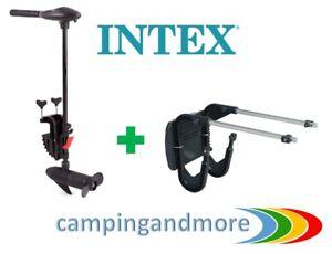 INTEX Elektro Motor 12Vfür Schlauchboote Elektromotor  mit Motorbefestigungskit