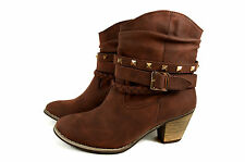 Elegante Autumn Ladies Ankle Boots Cowboy Boots Size 36-41 A.H206 New