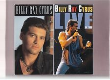 2 Billy Ray Cyrus VHS- LIVE On Tour + Video Concert Tracks 1992