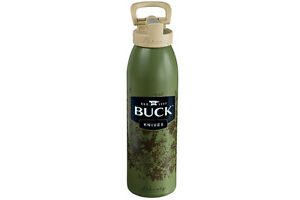 Buck Aluminum Water Bottle Green Original Buck Product 95075 NEW
