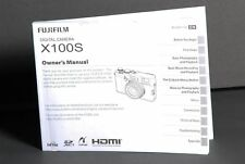 Fuji X100S Digital Camera Owners Manual Book Brand New (English) 129 Pages