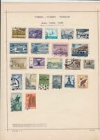 Turkey 1915-1923 Stamps on Album Pages ref 22206