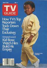 """EMMANUEL LEWIS of """"WEBSTER"""" TV Guide Magazine June 14, 1986 6/14/86 B-2-1"""