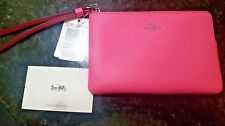 NEW Coach Bright Spring Pink F58035 Corner Zip Wallet tags, insert & gift box