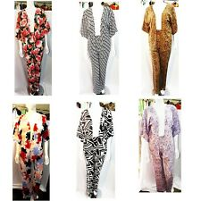 WOMENS LADIES 2 PIECE SUIT COMFY PYJAMA  WEAR VISCOSE PRINT