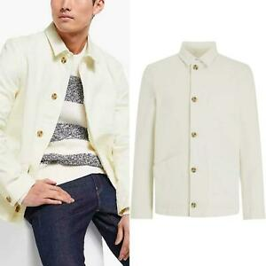 JOHN LEWIS Ivory Mens Cotton Chore Jacket Smart Casual