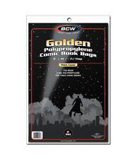 "1 Case of 1000 BCW Thick Golden Age 8"" Comic Book Storage Poly Bags Sleeves"