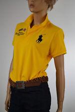 Ralph Lauren Yellow-Brazil Track & Field- Big Pony Match Polo Shirt -Large- NWT