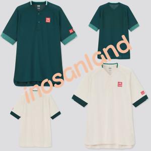 UNIQLO RF Dry EX Polo Shirt Qatar Open Tennis Game Shirt 2021 Roger Federer