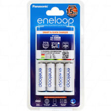 4x Eneloop 2hr Quick Charger With 4 Bonus LSD AA Batteries